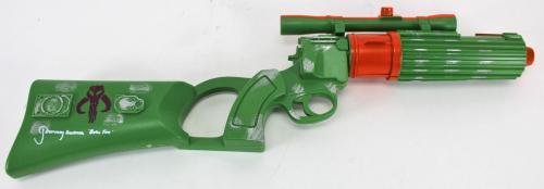 "Jeremy Bulloch Star Wars ""Boba Fett"" Signed Boba Fett Plastic Toy Blaster BAS"