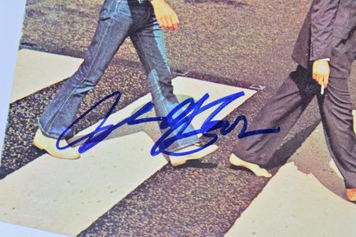 Beatles (3) McCartney, Harrison & Starr Signed Abbey Road Album Flat BAS #A03213