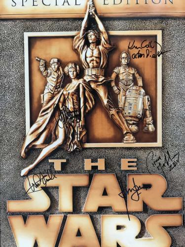 Star Wars Cast Signed Autographed Trilogy Poster Ford Fisher Hamill Beckett BAS