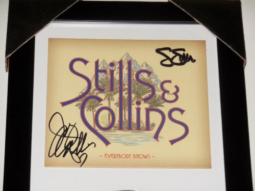 Stephen Stills & Judy Collins Autographed Everybody Knows Cd Cover (framed) Coa!