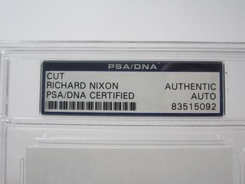 Pres Richard Nixon cut signature autograph president 9-10-79 PSA DNA