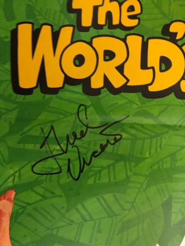 Jan Michael Vincent Signed Disneys The Worlds Greatest Athlete Poster Bas Auto