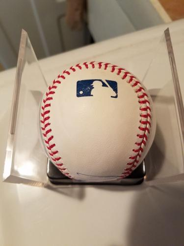 Donald Trump Signed Autographed Omlb Baseball Jsa Coa Blue Ballpoint Full Graph