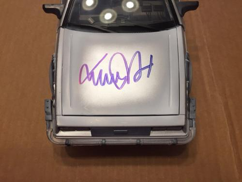 Michael J. Fox Christopher Lloyd Signed Delorean Car Back To The Future Psa/dna