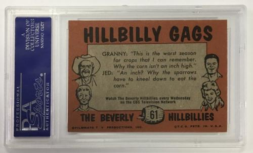 1963 Beverly Hillbillies Jed Clampett. Card #61 Psa 8 Nm-mt