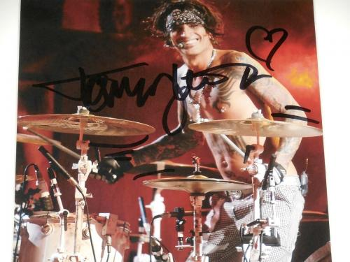 Tommy Lee Autographed 8x10 Color Photo (framed & Matted) - Motley Crue!