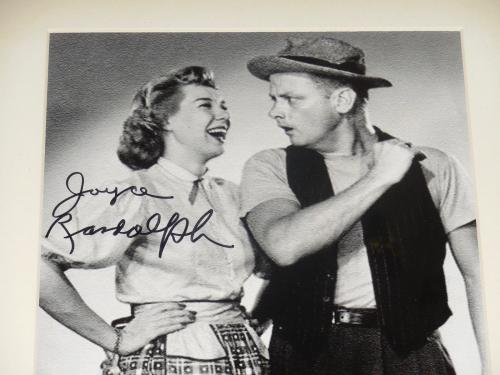 Joyce Randolph Autographed 8x10 Photo (framed & Matted) - The Honeymooners!
