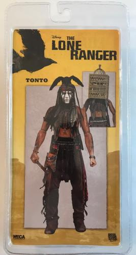 "JOHNNY DEPP (Lone Ranger) signed authentic NECA Tonto 8"" figure w/birdcage"