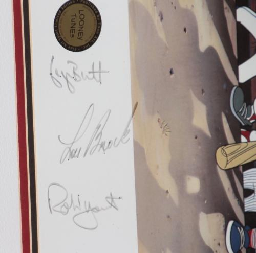 Signed Artist Proof 3000 Hit Club Lithograph Looney Tunes Auto Jsa Aaron Mays +