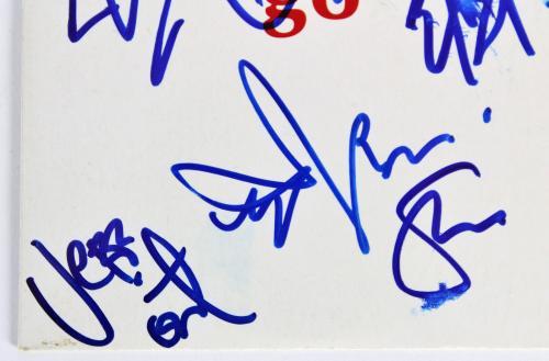 Pearl Jam (5) Vedder, McCready, Gossard +2  Signed Promo Cd Cover BAS #A85998