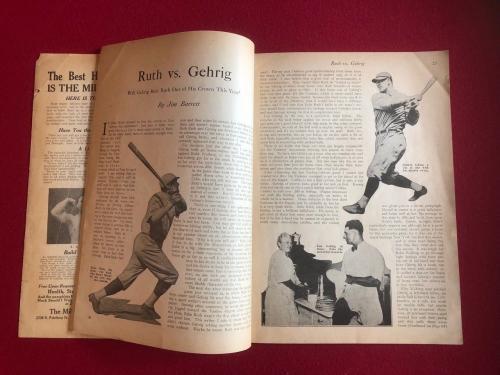 """1927, Babe Ruth, """"Strength"""" Magazine (Rare) New York Yankees"""