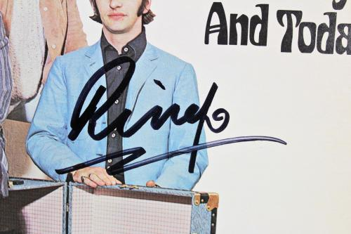 Ringo Starr Beatles Signed Yesterday & Today Album Cover W/ Vinyl BAS #A70463