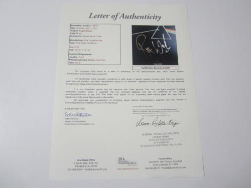 Pink Floyd Roger Waters Signed Dark Side of the Moon Vinyl Album JSA COA LOA