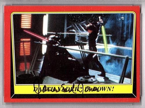 "1983 Topps STAR WARS JAMES EARL JONES Signed ""Darth Vader"" Card PSA/DNA SLABBED"