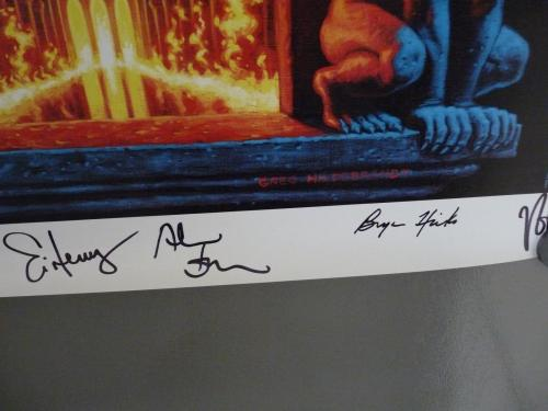 Trans Siberian Orchestra Signed x 34 Night Castle Canvas Poster PSA Guaranteed