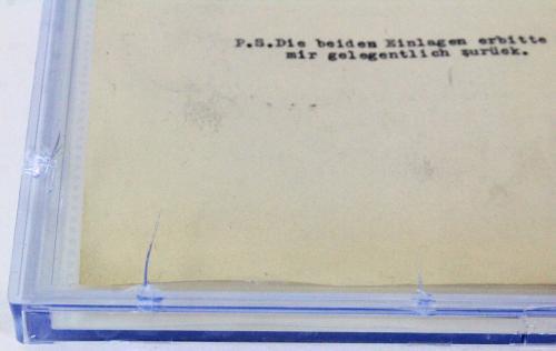 Albert Einstein Signed 1946 8.5x11 Letter Auto Graded Gem Mint 10! BAS Slabbed