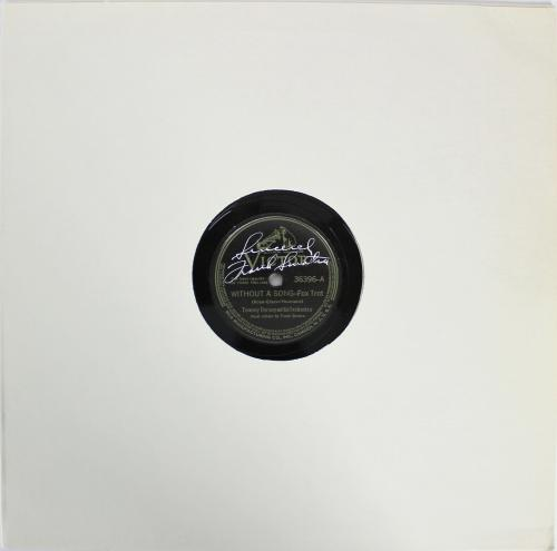 Frank Sinatra Sincerely Signed Without A Song Vinyl LP BAS #A72919