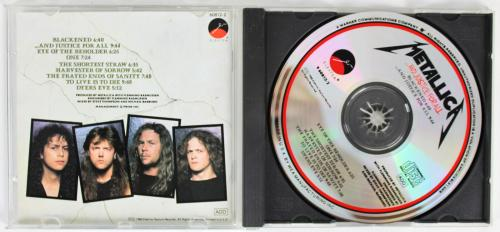 Metallica (4) Hetfield, Ulrich, Hammett & Newsted  Signed Cd Insert W/ Disk BAS