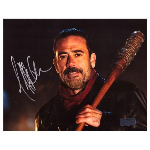 Jeffrey Dean Morgan Signed The Walking Dead 8x10 Photo - Bat Black