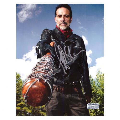 Jeffrey Dean Morgan Signed The Walking Dead 8x10 Photo - Bat Blue