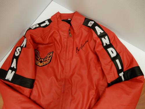 Burt Reynolds Signed Smokey And The Bandit Red Motorbike Jacket Exact Proof