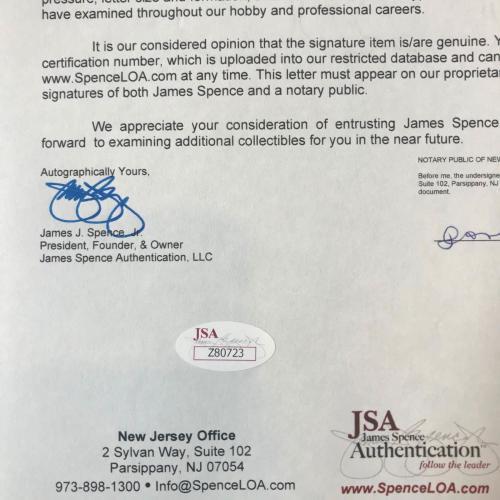 Stunning President Ronald Reagan Single Signed National League Baseball JSA COA