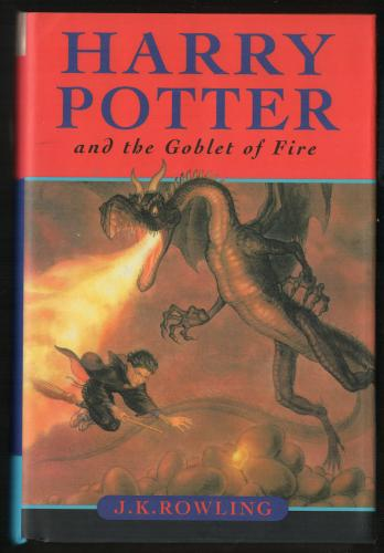 J.K. Rowling signed autographed Harry Potter and the Goblet of Fire book JSA LOA
