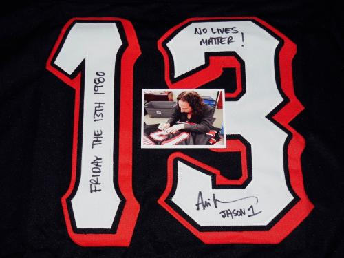 Ari Lehman Autographed Jason Voorhees Jersey (friday The 13th) W/ Proof!