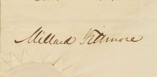 Millard Fillmore Daniel Webster Signed Autographed 21x16 Document Beckett BGS