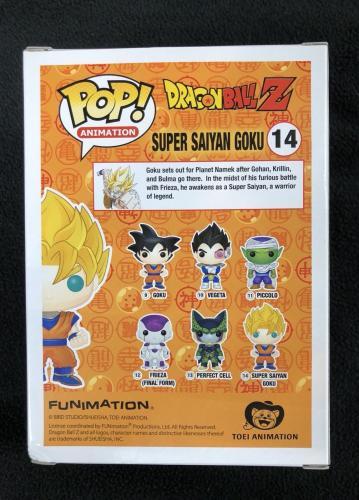 Sean Schemmel Signed Super Saiyan Goku Dragonball Z Funko Pop Figure