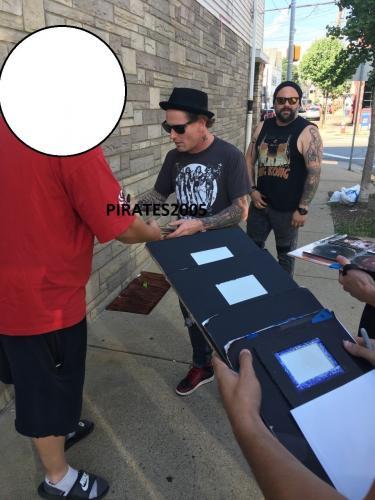 Corey Taylor Signed Usa Flag Electric Guitar Slipknot Stone Sour Proof Jsa Coa