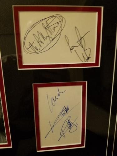 The Rolling Stones Brian Jones Mick Jagger Keith Richards Signed Set Framed Bas
