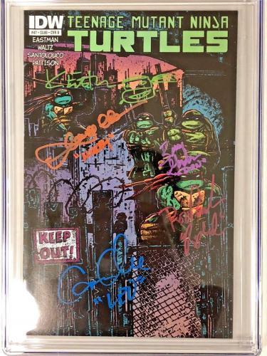 Teenage Mutant Ninja Turtles #47 Cast Signed Comic Eastman Fraley 9.6 Cgc Series