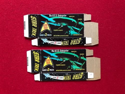 "1976, Star Trek, ""Candy Boxes"" (Set of 2) (Kirk / Spock) Scarce"