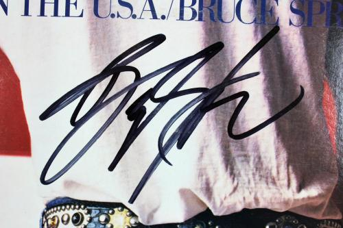 Bruce Springsteen Signed Born In the USA Album Cover W/ Vinyl PSA/DNA #W00485