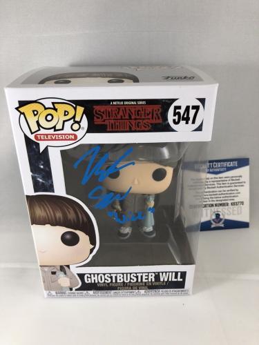 Noah Schnapp Signed Ghostbuster Will Stranger Things Funko Pop Bas Beckett 3