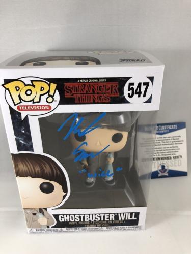 Noah Schnapp Signed Ghostbuster Will Stranger Things Funko Pop Bas Beckett 2