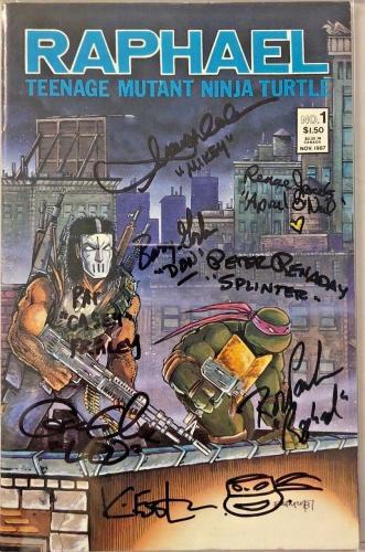 Tmnt Raphael #1 Cast Signed Comic Eastman Clarke Cgc Sig Series Autograph 9.0 E