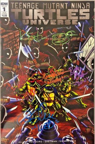 Tmnt Universe #1 Cast Signed Comic Eastman Clarke Cgc Sig Series Autograph 9.6 G