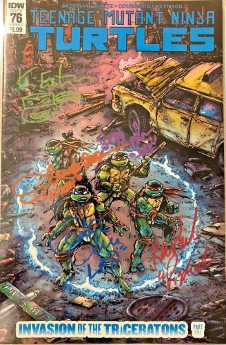 Tmnt #76 Cast Signed Comic Eastman Clarke Gordon Cgc Sig Series Autograph 9.8 R