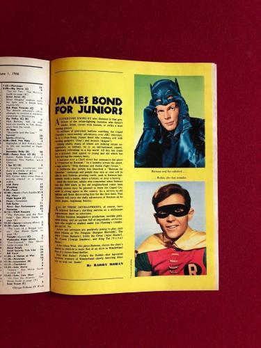 "1966 Batman, ""TV Week"" Program Guide (RARE) Chicago Tribune"