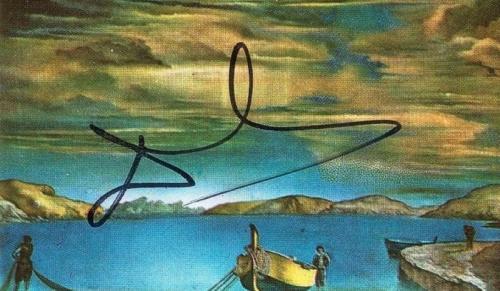 Salvador Dali Signed Autographed Post Card PSA/DNA AUTHENTIC