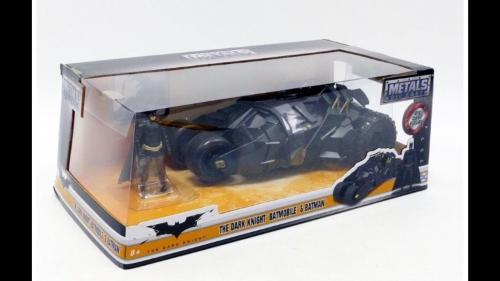 Christian Bale Signed Batmobile Car 1:24 The Dark Knight Trilogy Star Beckett #3