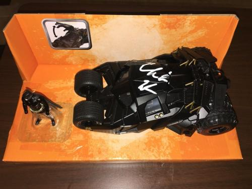 Christian Bale Signed Batmobile Car 1:24 The Dark Knight Trilogy Movie Beckett