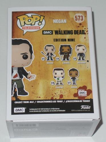 Jeffrey Dean Morgan Signed Auto'd Funko Pop Bas Coa The Walking Dead Negan 573