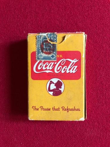 1940's, WWII, Coca-Cola, Complete Deck of Playing Cards (Scarce)