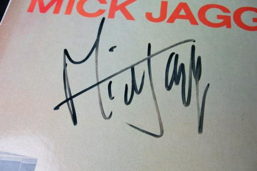 Mick Jagger Signed Autographed Album Cover Just Another Night PSA AE04034
