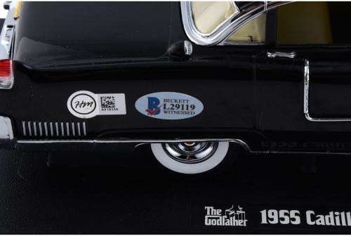 Al Pacino The Godfather Autographed 1955 Cadillac Fleetwood 1:18 Die cast Car - Limited Edition - BAS