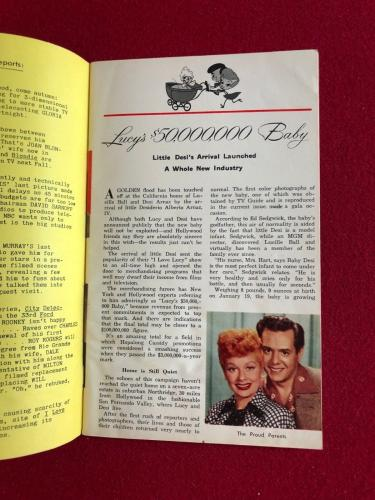"""1953, Lucille Ball """"TV Guide""""  (First Issue!!) (No Label) Scarce (I Love Lucy)"""