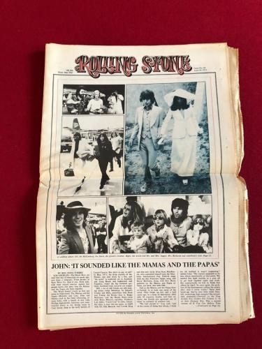 "1971,Elton John, ""Rolling Stone"" Newspaper (No Label) Scarce (Mick Jagger)"